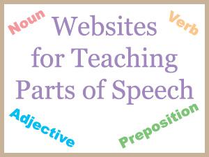 Websites for Teaching Parts of Speech