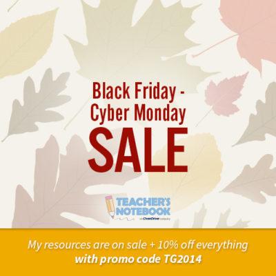Black Friday – Cyber Monday Sale