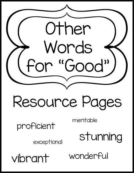 Other Words for Good Resource Pages