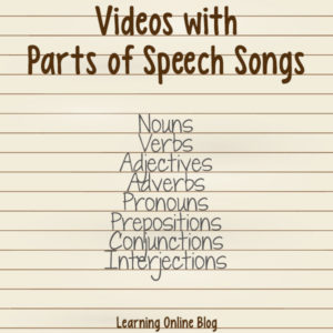 Videos with Parts of Speech Songs