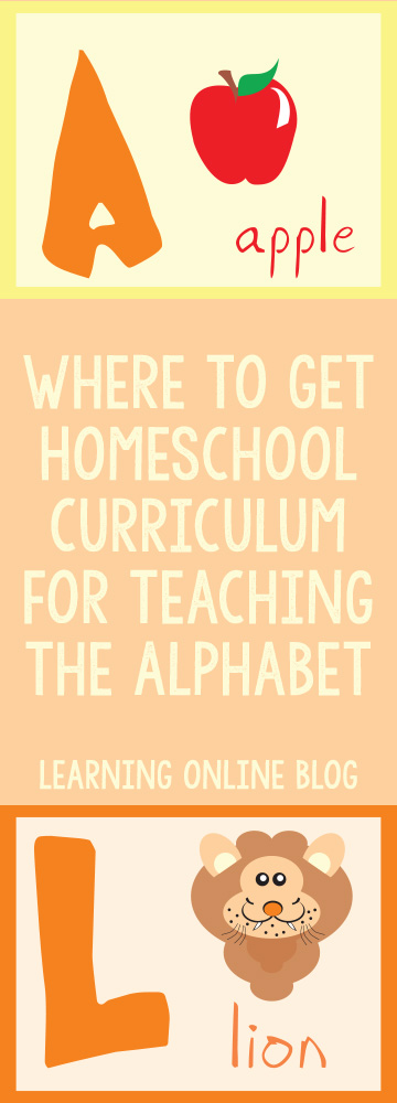 Where to Get Homeschool Curriculum for Teaching the Alphabet