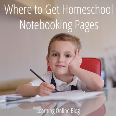 Where to Get Homeschool Notebooking Pages