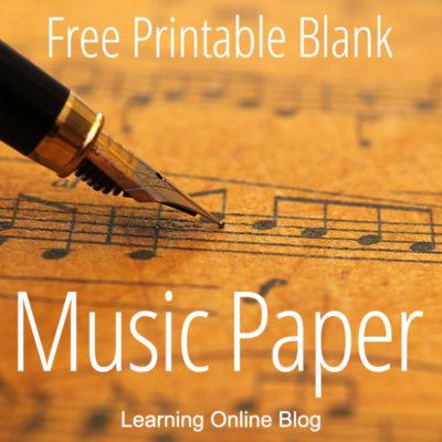 Free Printable Blank Music Paper