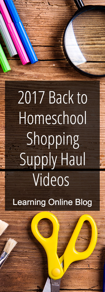 2017 Back to Homeschool Shopping Supply Haul Videos