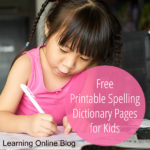 Free Printable Spelling Dictionary Pages for Kids