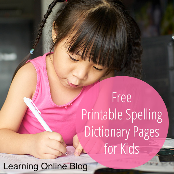image about Printable Dictionary Pages referred to as Absolutely free Printable Spelling Dictionary Web pages for Youngsters