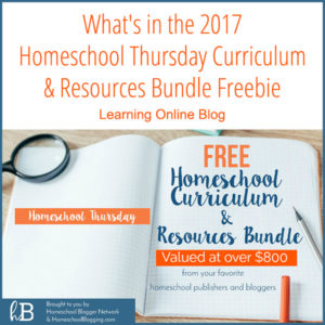 What's in the 2017 Homeschool Thursday Curriculum and Resources Bundle Freebie