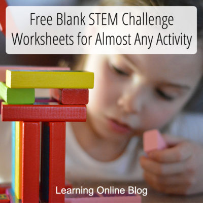 Free Blank STEM Challenge Worksheets for Almost Any Activity
