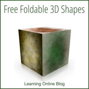 Free Foldable 3D Shapes