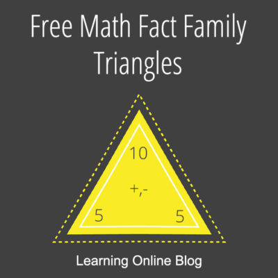 Free Math Fact Family Triangles