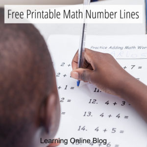Free Printable Math Number Lines