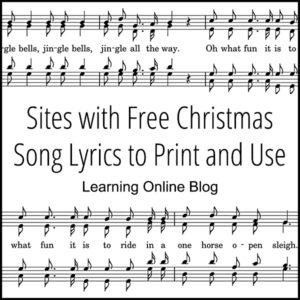Lyrics White Christmas.Sites With Free Christmas Song Lyrics To Print And Use