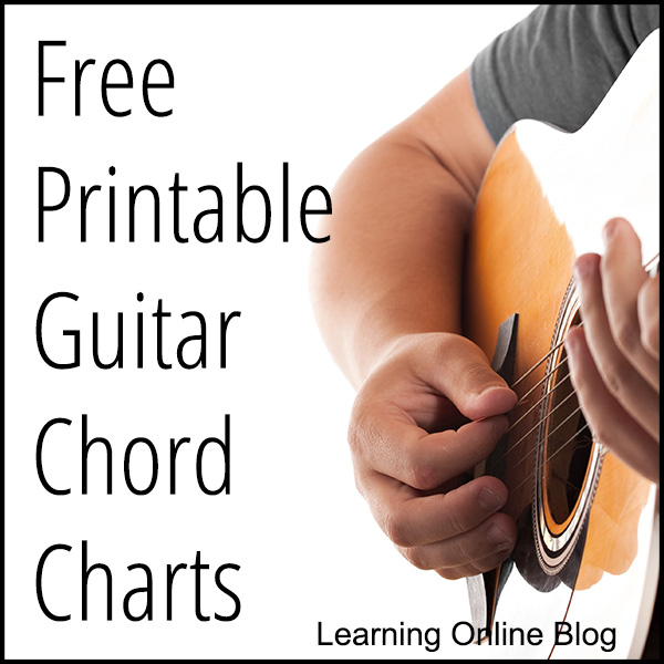 graphic regarding Guitar Printable named Totally free Printable Guitar Chord Charts