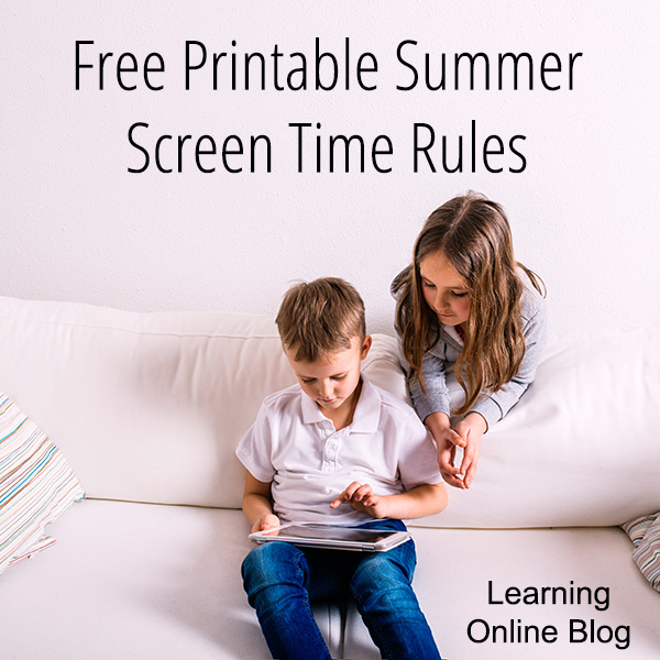 graphic about Screen Time Rules Printable identify Free of charge Printable Summertime Display screen Year Guidelines